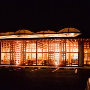 001-レストラン前夜景