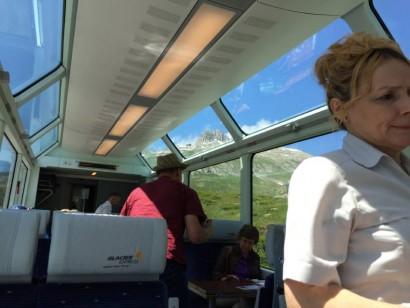 ツェルマットまでの観光列車